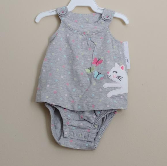 Carter's Other - *B2G1* Carters Baby Girl Cat Onesie Romper NWT